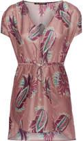 Vix Agata Printed Cotton And Silk-blend Mini Dress