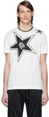 Dolce & Gabbana White Stars T-Shirt