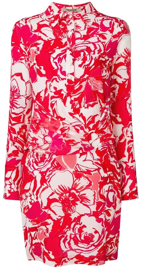 Roberto Cavalli Wrap-Around Midi Dress