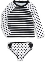 Kate Spade Girl's Two-Piece Rashguard Swimsuit