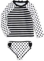 Kate Spade Toddler Girl's Two-Piece Rashguard Swimsuit