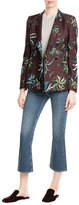 Emilio Pucci Printed Wool Blazer with Silk