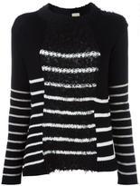 Nude striped jumper - women - Cotton/Linen/Flax/Polyamide/Viscose - 40