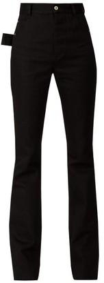 Bottega Veneta High-rise Flared Crepe Trousers - Black Multi