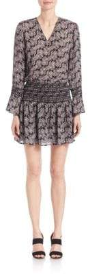 Derek Lam 10 Crosby Smocked Silk Dress