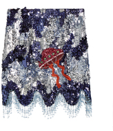 House of Holland Sequin-embellished mini skirt