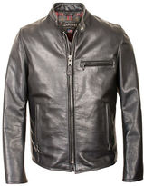 Schott NYC Waxed Cafe Leather Jacket