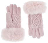 Accessorize Wool Blend Cable Knit Gloves