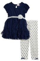 Nannette Little Girl's Lace Dress and Leggings Set