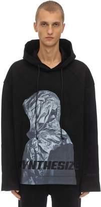 Juun.J Hooded Print Cotton Jersey Ls T-shirt
