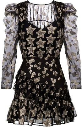LoveShackFancy Caden fil coupe silk-blend minidress