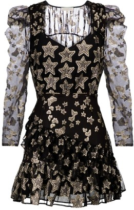 LoveShackFancy Caden printed silk-blend dress