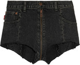 Vetements Levi's Distressed Denim Shorts - Black