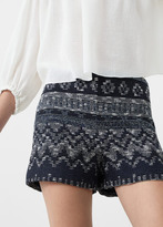 MANGO Textured Cotton Shorts