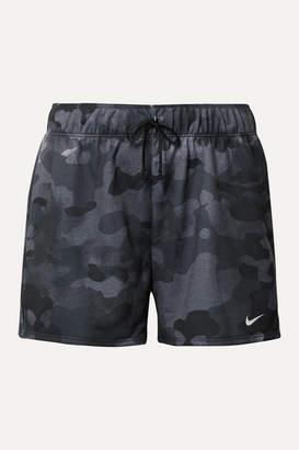 Nike Rebel Camouflage-print Dri-fit Jersey Shorts - Black