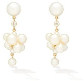 Sophie Bille Brahe Botticelli Diamond, Pearl & 14kt Gold Earrings - Womens - Pearl