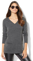New York & Co. Double-Pocket Tunic Sweater