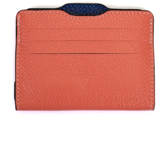 Hiva Atelier Double Card Holder Coral & Parliament
