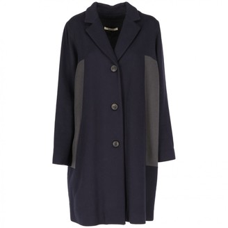 Bally Blue Wool Coat for Women Vintage