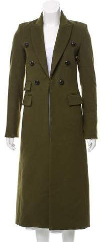 Virgin Wool Long Peacoat