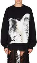 Maison Margiela Women's Feather-Print Cotton French Terry Sweatshirt