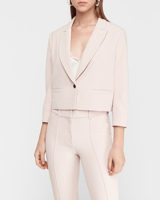 Express Cropped One-Button Blazer