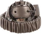 Miu Miu Metallic Leather Waist Belt w/ Tags