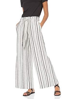 find. RS-0115 Trousers, Multicolour (Black/White Stripe), 8 (Size:XS)
