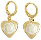 Poporcelain Mini Camellia Heart Locket Earrings