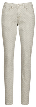 Cream ANNIE women's Trousers in Grey