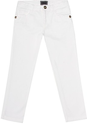 Versace Kids Straight stretch-cotton jeans