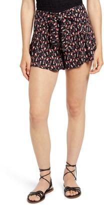 Kirious Tie Waist Floral Shorts