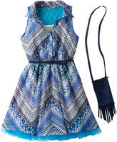 Knitworks Girls 7-16 Belted Halter Shirtdress with Crossbody Purse Set