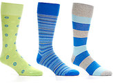 Roundtree & Yorke Gold Label Dotted Assorted Crew Dress Socks 3-Pack