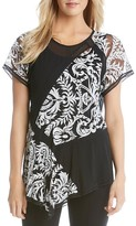 Karen Kane Patchwork Lace Top
