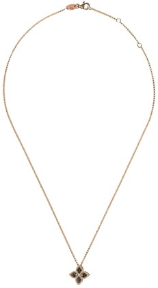 Roberto Coin 18kt rose gold diamond Princess Flower necklace