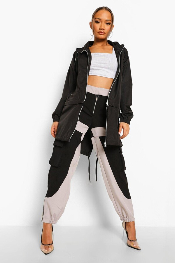 Thumbnail for your product : boohoo Zip Off Detail Hooded Festival Mac