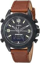 Timex Men's TW4B17400 Expedition Pioneer Combo 41mm Leather Strap Watch