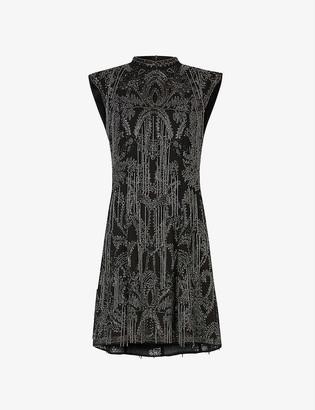 AllSaints Isla Ossia embellished mini dress