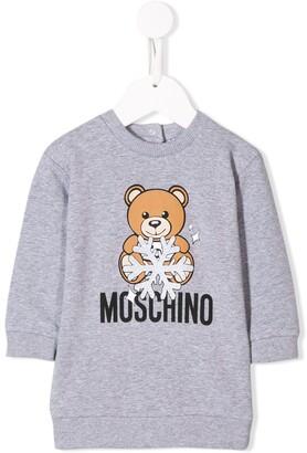 Moschino Kids snowflake bear dress