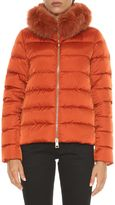 Herno Short Down Jacket With Fox Fur