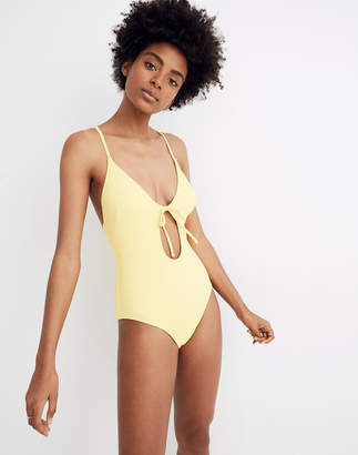Madewell x Solid & Striped Kelsey Ribbed Keyhole One-Piece Swimsuit