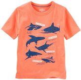 Osh Kosh Boys 4-12 Glow-in-the-Dark Shark Print Graphic Tee