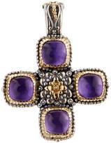 Konstantino Erato Amethyst Doublet Cross Pendant Enhancer