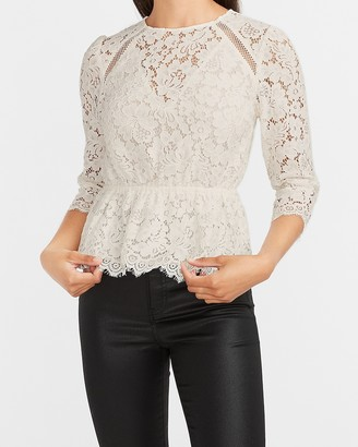 Express Lace Peplum Top