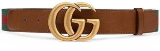 Gucci Double G buckle Web belt