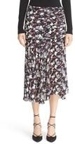 Veronica Beard Women's Madison Floral Print Silk Midi Skirt