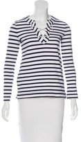 Kate Spade Laced-Up Long Sleeve Top