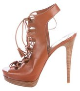 Christian Louboutin Miss Fortune 120 Lace-Up Sandals