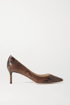 Jimmy Choo Romy 60 Snake-print Leather Pumps - Snake print